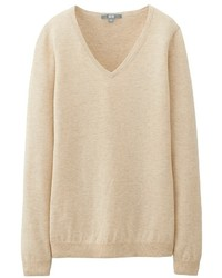 Uniqlo Cotton Cashmere V Neck Sweater