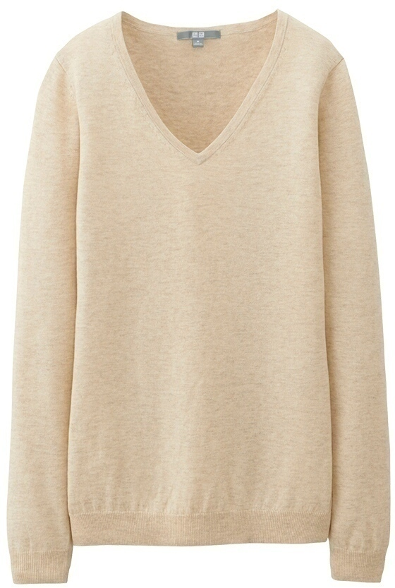 Uniqlo Cotton Cashmere V Neck Sweater | Where to buy & how to wear