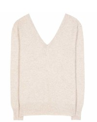 Victoria Beckham Double V Neck Wool Sweater