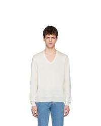 Maison Margiela Off White Spliced Sweater