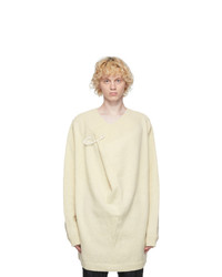 Raf Simons Off White Wool Pin Sweater