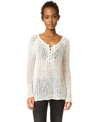 Cupcakes And Cashmere Phyllis Lace Up Sweater