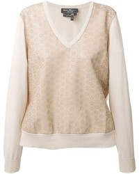Salvatore Ferragamo Perforated Front Sweater