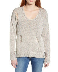 Caslon Shredded Sweater