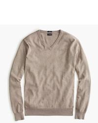 Slim cotton cashmere v neck sweater medium 333186
