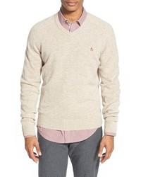 Original Penguin V Neck Lambswool Sweater