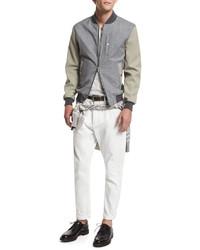 Brunello Cucinelli V Neck Short Sleeve T Shirt Alabaster