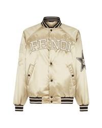 Fendi Logo Satin Bomber Jacket