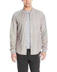 Vince Spray Back Suede Snap Front Shirt Jacket