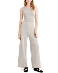 J.Crew Sleeveless Lurex Jumpsuit With Velvet Tie