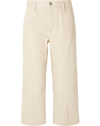 Marc Jacobs Cropped Striped Cotton Straight Leg Pants