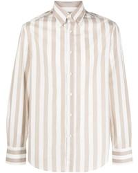 Brunello Cucinelli Button Down Collar Striped Shirt