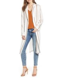 4SI3NNA Stripe Knee Length Blazer