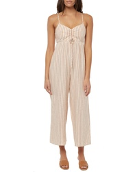 O'Neill Anabella Stripe Ruched Jumpsuit