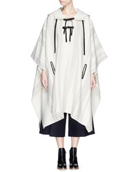 3.1 Phillip Lim Oversize Leather Strap Wool Felt Poncho
