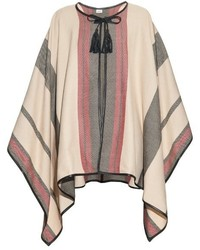 Talitha multi striped cashmere poncho medium 344983