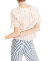 Madewell Village Stripe Ruffle Sleeve Shirt