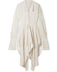 JW Anderson Draped Striped Woven Tunic