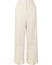 JW Anderson Striped Woven Wide Leg Pants