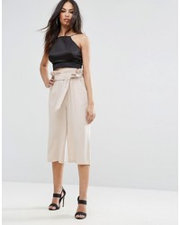 Missguided Paperwaist Tie Belt Cullottes