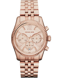 Michl michl kors mid size rose golden stainless steel lexington chronograph watch medium 3776640