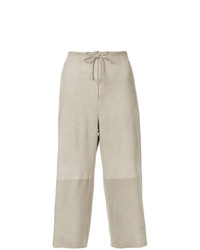 Salvatore Ferragamo Vintage Drawstring Cropped Trousers