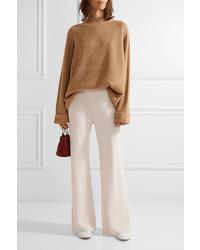 Gala Stretch-cady Wide-leg Pants - Cream The Row a9LLq