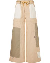 Ganni Hazel Convertible Cotton Cargo Pants