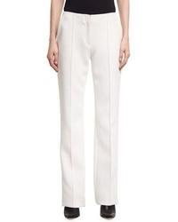 Diane von Furstenberg Pleated Front Wide Leg Crepe Pants