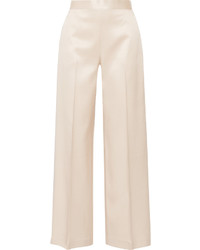 The Row Selip Silk And Wool Blend Shantung Wide Leg Pants