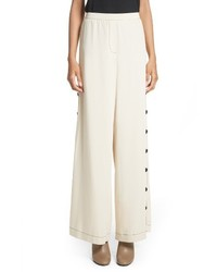 Side button wide leg pants medium 4154631