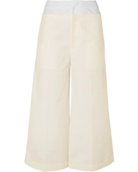 Rejina Pyo Tate Cotton Blend And Poplin Wide Leg Pants