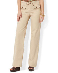 Lauren Ralph Lauren Wide Leg Herringbone Pants