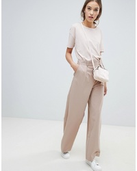 ASOS DESIGN Wide Leg Trousers With Pleat Detail