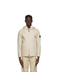 Stone Island Off White Cordura Detachable Hood Jacket