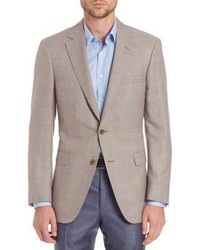Collection by samuelsohn classic fit houndstooth check wool silk sportcoat medium 899371