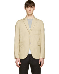 Gamme bleu beige cotton classic blazer medium 186792
