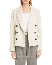 Isabel Marant Double Breasted Boucle Wool Jacket
