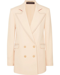 Roland Mouret Gilroy Double Breasted Alpaca And Wool Blend Twill Blazer