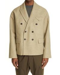Bottega Veneta Oversize Double Breasted Wool Blend Jacket