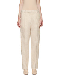 MM6 MAISON MARGIELA Beige Wool Snap Trousers