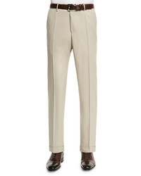 Benson standard fit wool trousers tan medium 655180