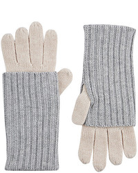 Barneys New York Layered Look Stockinette Stitched Gloves