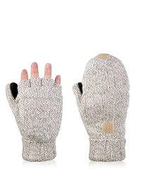 Beige Wool Gloves