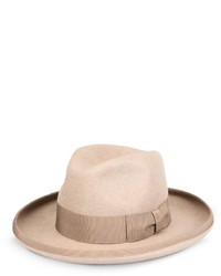 Stella McCartney Beige Wool Fedora Hat
