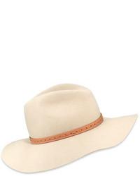 Rag & Bone Wool Felt Wide Brim Fedora Hat Tan