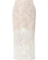 Stella McCartney Wool Blend Guipure Lace Midi Skirt