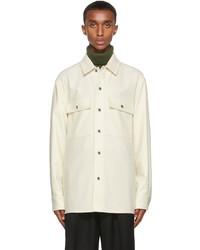 Jil Sander Off White Compact Wool Shirt Jacket