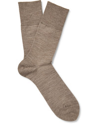 Falke Airport Mlange Wool And Cotton Blend Socks