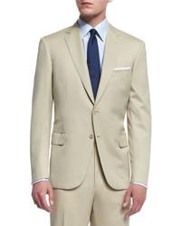 Beige Wool Suit